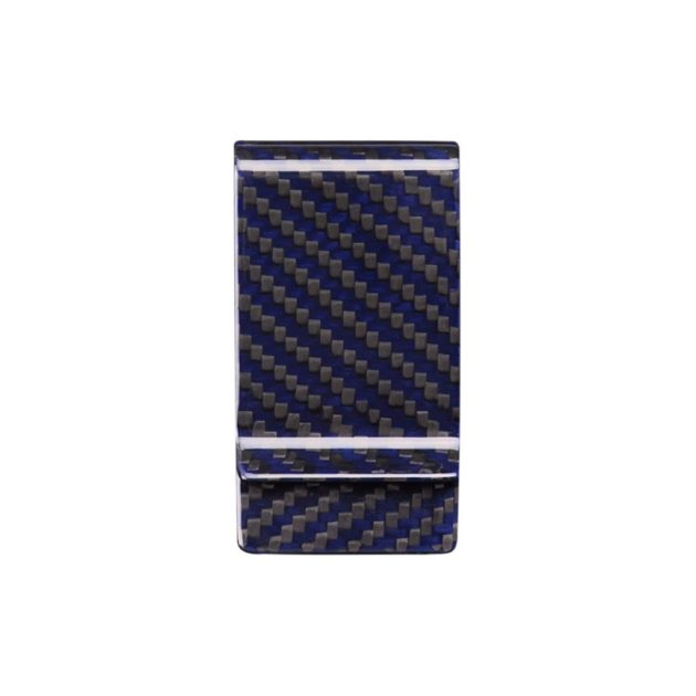 Blue Carbon Fiber Money Clip