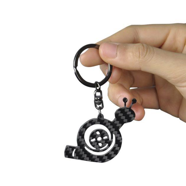 Real Carbon Fiber Turbo Snail Keychain