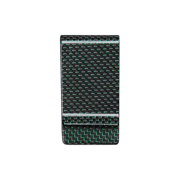 GREEN CARBON FIBER MONEY CLIP