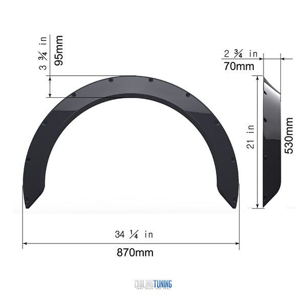 FENDER FLARES NEW SCHOOL 7cm (2.7″)