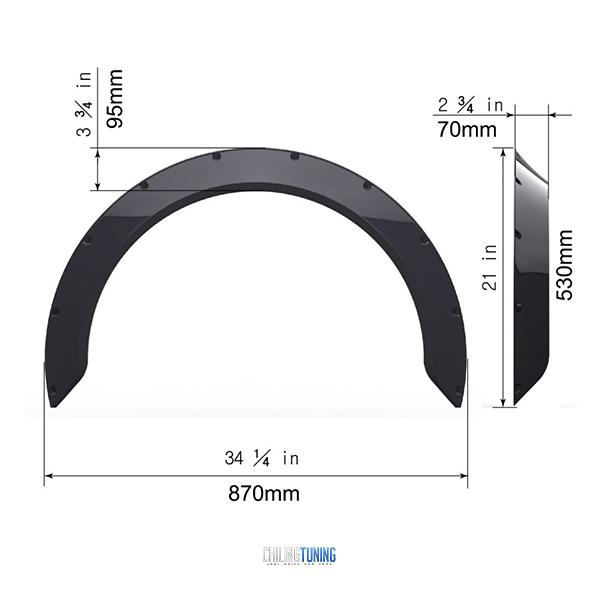 FENDER FLARES NEW SCHOOL 7cm (2.7″)
