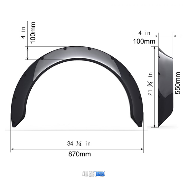 "FENDER FLARES NEW SCHOOL 10cm (3.9"")"